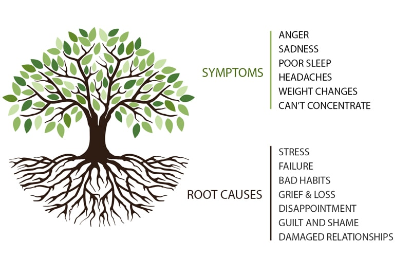 Mental health care symptoms and root causes.